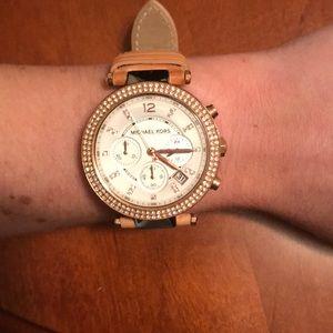 Michael Kors Watch Leather Strap